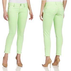Lilly Pulitzer Green Worth Skinny Mini Zip 8 Jeans